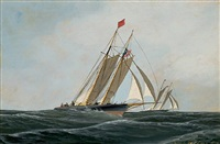 the yacht race by antonio jacobsen