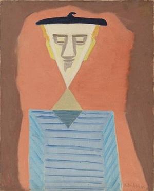 angular self-portrait by milton avery