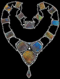 an important american renaissance necklace by louis comfort tiffany