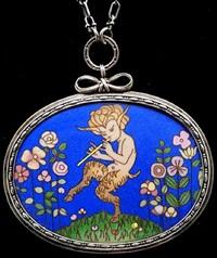 dancing satyr pendant by harold stabler and phoebe stabler