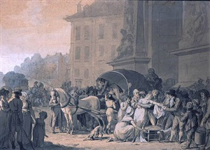 "accident next to the door ""saint denis"" by louis léopold boilly"