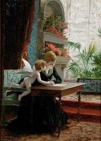 jeune femme et amour by jean-léon gérôme