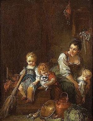 la belle villageoise by françois boucher