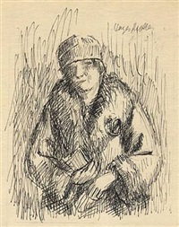 woman with book by kenneth hayes miller