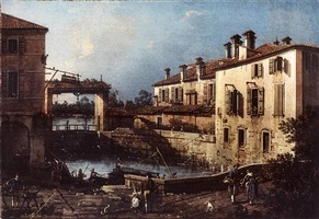 the lock at dolo by canaletto