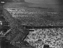 coney island, july 4th 1949 by andreas feininger