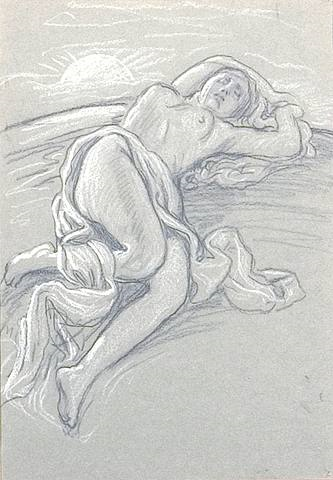 sunrise and sleep by elihu vedder