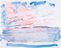 sky and water (sunset over water) by john marin