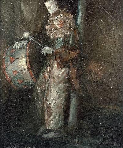 clown with drum by everett shinn