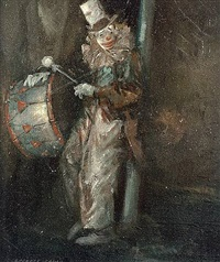 clown with drum by everett shinn