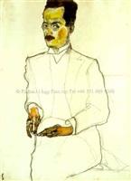 portrait of a gentleman by egon schiele