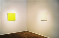 joseph marioni, yellow painting, white painting (see checklist below #5, #4 ) by joseph marioni