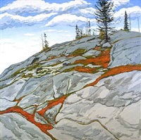 blueberries in fissures by neil welliver