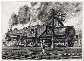 loco-erie watering by reginald marsh
