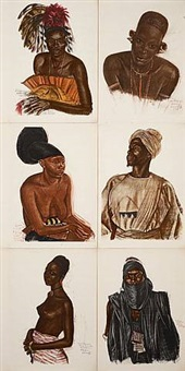 engravings from africa by alexander evgenievich iacovleff