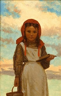 going to school by john george brown
