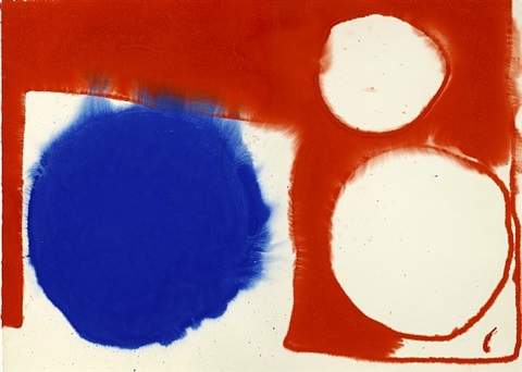 blue disc flooding: june by patrick heron