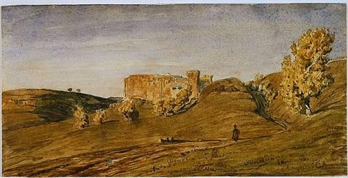 roman countryside by paul huet