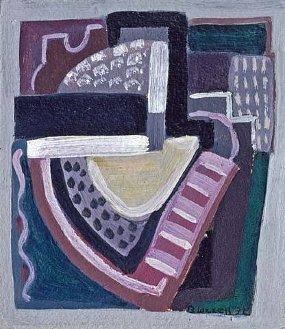 abstraction (violet and green no. 3), 1932 by blanche lazzell