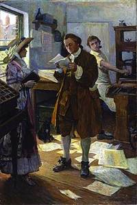 franklin the printer by stanley massey arthurs