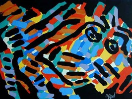 black-eyed animal by karel appel
