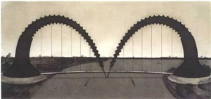 screw-arch bridge (state ii) by claes oldenburg