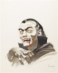count dracula (movie concept art for a dracula film) by frank frazetta