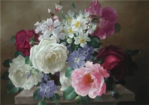 still life with roses by harold clayton