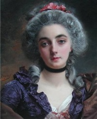 portrait of a lady by gustave jean jacquet