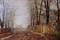 an october morning by john atkinson grimshaw