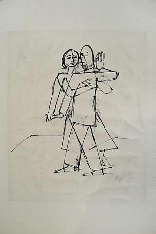 tanz, from tanz, 12 steinzeichnungen by karl hofer