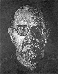 self portrait / pulp / pochoir by chuck close