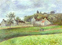 le hameau au printemps by victor alfred paul vignon