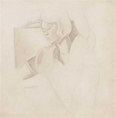 portrait of a woman by wyndham lewis