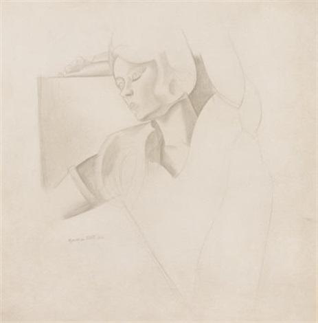 portrait of a woman by wyndham lewis