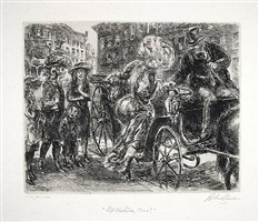 up the line, miss? by john french sloan