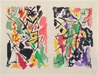 abstrakte kompositionen by ernst wilhelm nay
