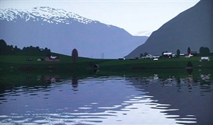 animated film of rippling water by julian opie