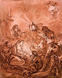 the nativity by françois boucher