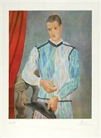 harlequin (from the barcelona suite) - czw.230 by pablo picasso