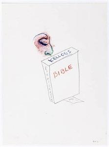 untitled (kellogs bible pornography) by william wegman