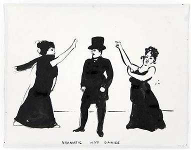 dramatic hat dance by william wegman