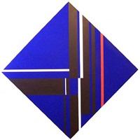 deep blue diamond by ilya bolotowsky