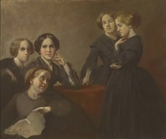 group with mrs. sarah fairchild conover, superior, wisconsin by eastman johnson