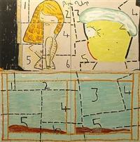 pin up and porn queen jigsaw by rose wylie