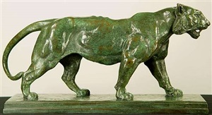 tigre qui marche by antoine-louis barye