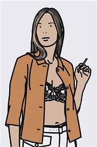 ruth smoking 1 by julian opie