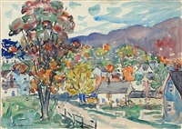 autumn view by maurice brazil prendergast