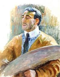 auto-portrait a la palette (38) by théo van rysselberghe