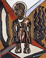 makonde figure by beauford delaney
